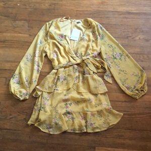 Yellow, flowered dress